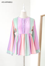 Doll Blouse Rainbow Vibrant