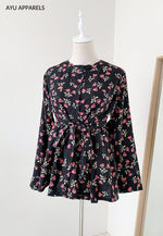 Doll Blouse Rose Black