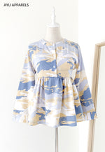 Doll Blouse Seascape Blue