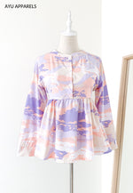 Doll Blouse Seascape Lilac