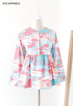Doll Blouse Seascape Mint