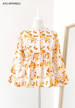 Doll Blouse Watercolour Apricot
