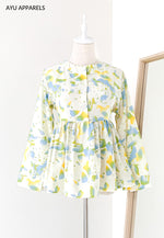 Doll Blouse Watercolour Soft Green