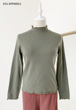 Petite Frills Cotton Inner Army Green
