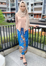 Wrap batik Skirt Jhara Blue
