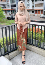Wrap batik Skirt Jhara Brown