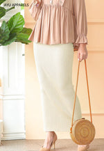 Straight Cut Skirt Ivory