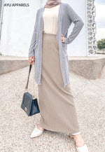 Straight Cut Skirt Mocha