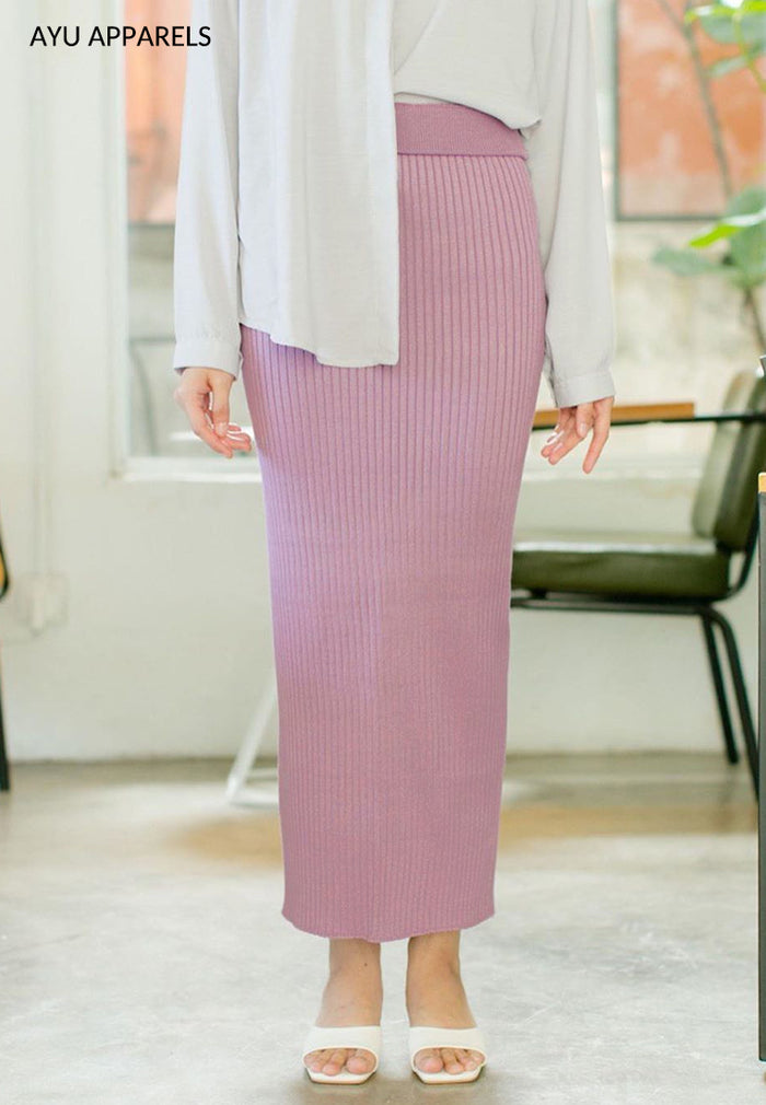 Straight Cut Skirt Mulberry