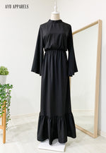 Fifi Gathered Dress Black