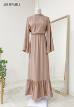 Fifi Gathered Dress Cappuccino