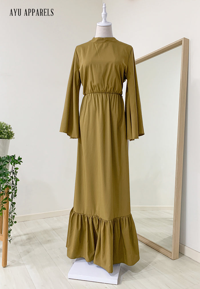 Fifi Gathered Dress Olive