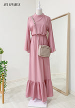 Fifi Gathered Dress Pink