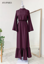 Fifi Gathered Dress Plum