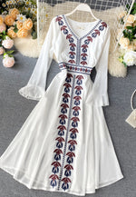Laurel Embroidered Dress White