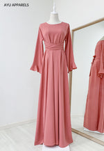Sephia Tied Dress Pink Salmon