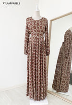 Printed Dress Mandala Light Brown