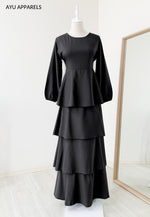 Julia Tiered Dress Black