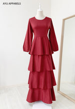 Julia Tiered Dress Red