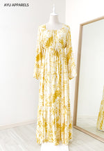 Tie Dye Drawstring Dress Butterscotch