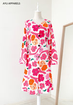 Yuna Floral Tunic Pink