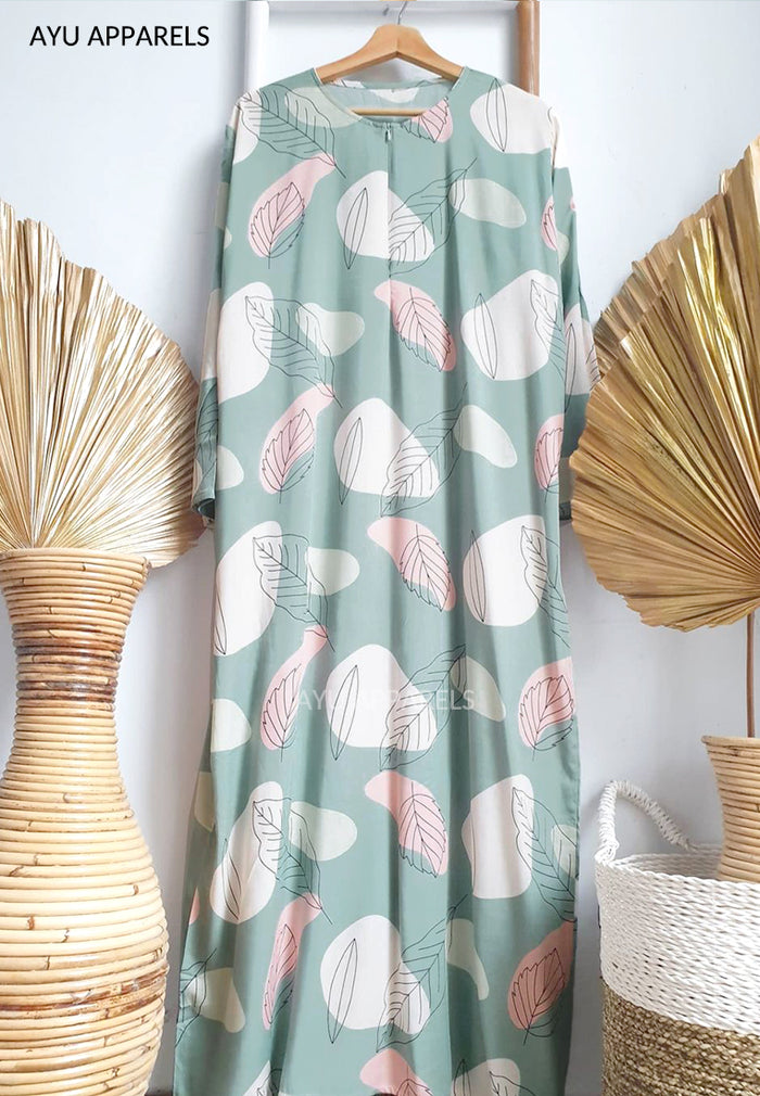 Printed Cotton Dress Minty