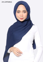 Cornskin Shawl Navy Blue