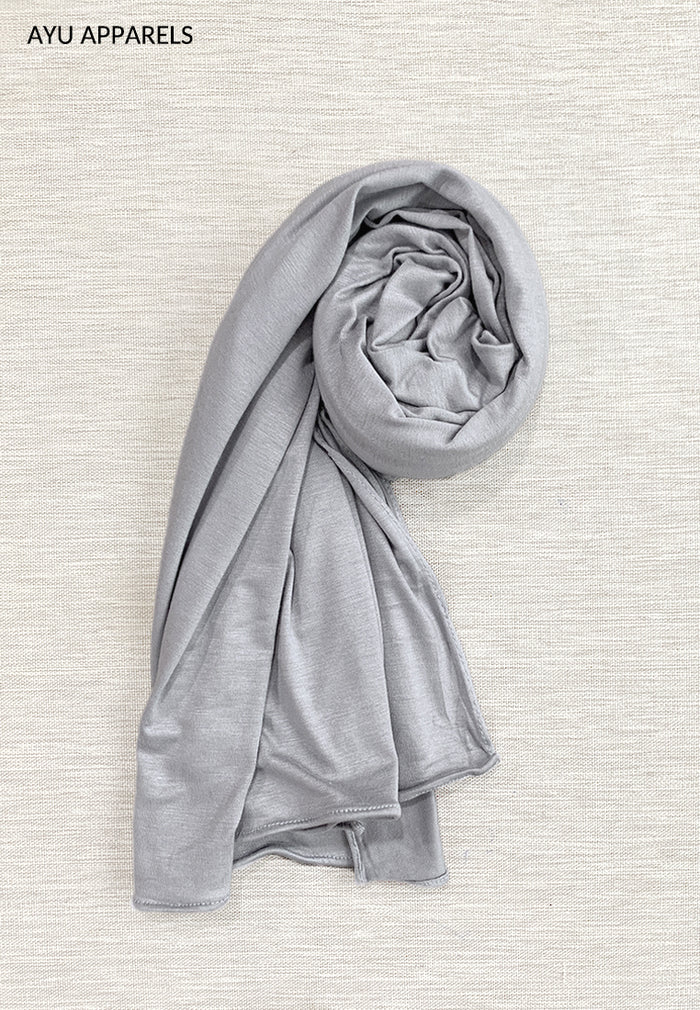 Premium Jersey Shawl Light Grey
