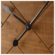 "Load image into Gallery viewer, 30"" Oversized Herringbone Clock"