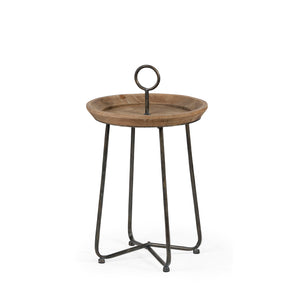 Iron & Wood Side Table