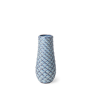 Fish-Scale Ceramic Vase
