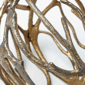 Rustic Gold Tree Branch Sphere