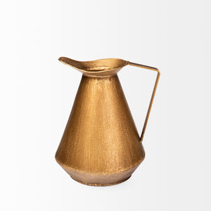 Antiqued Brass Pitcher