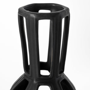 Drum Shaped Ceramic Vase
