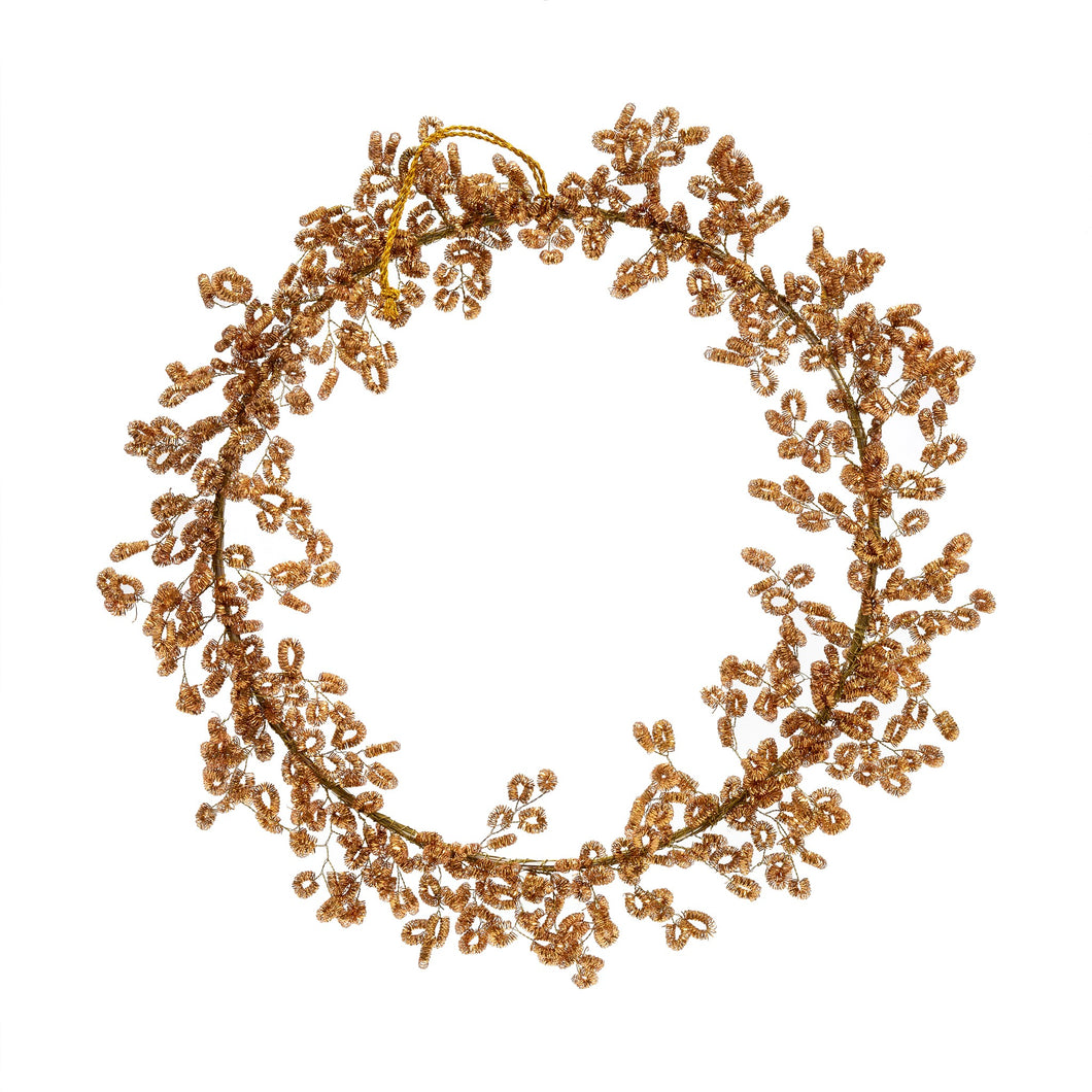Gold Tinsel Wreath