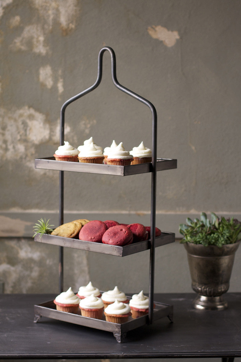 Metal Three Tiered Display Tray