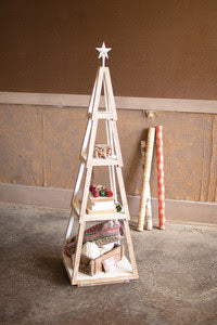 Stackable Topiary Christmas Tree Shelf