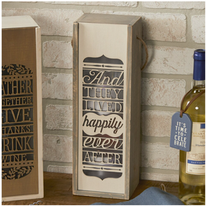 Happily Ever After Wine Box