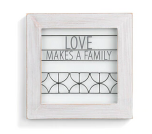 Love Makes A Family Wall Art