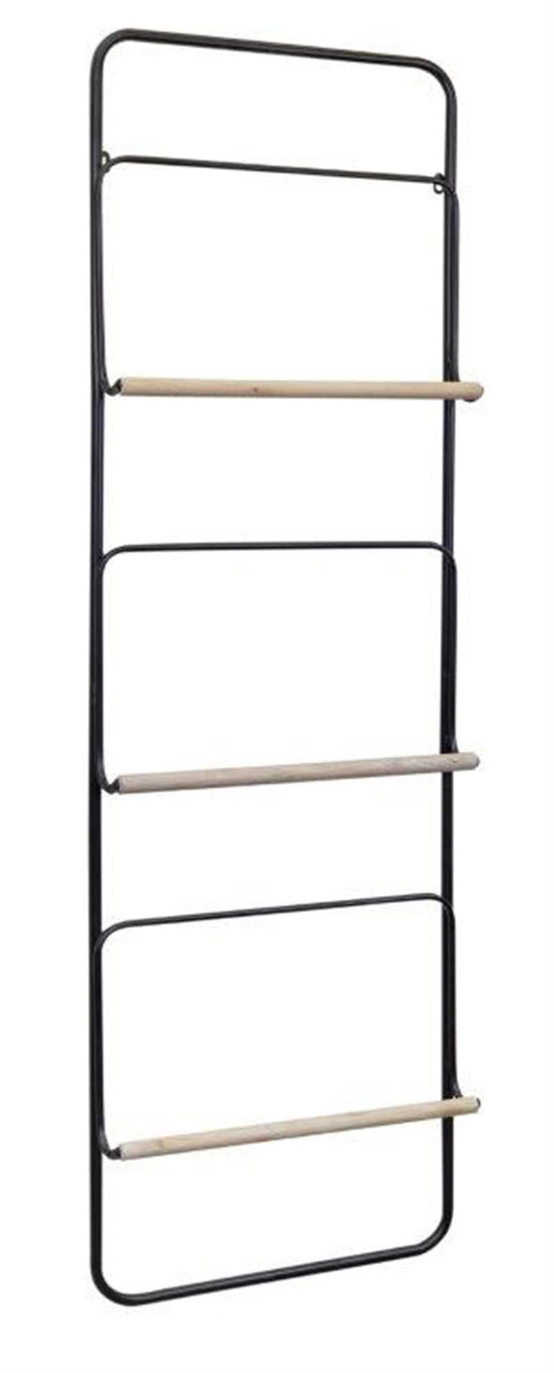 Modern Wood & Metal Wall Ladder