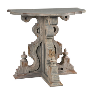 Half-Round Distressed Console