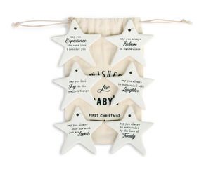 Wishes for Baby's First Christmas Ornaments