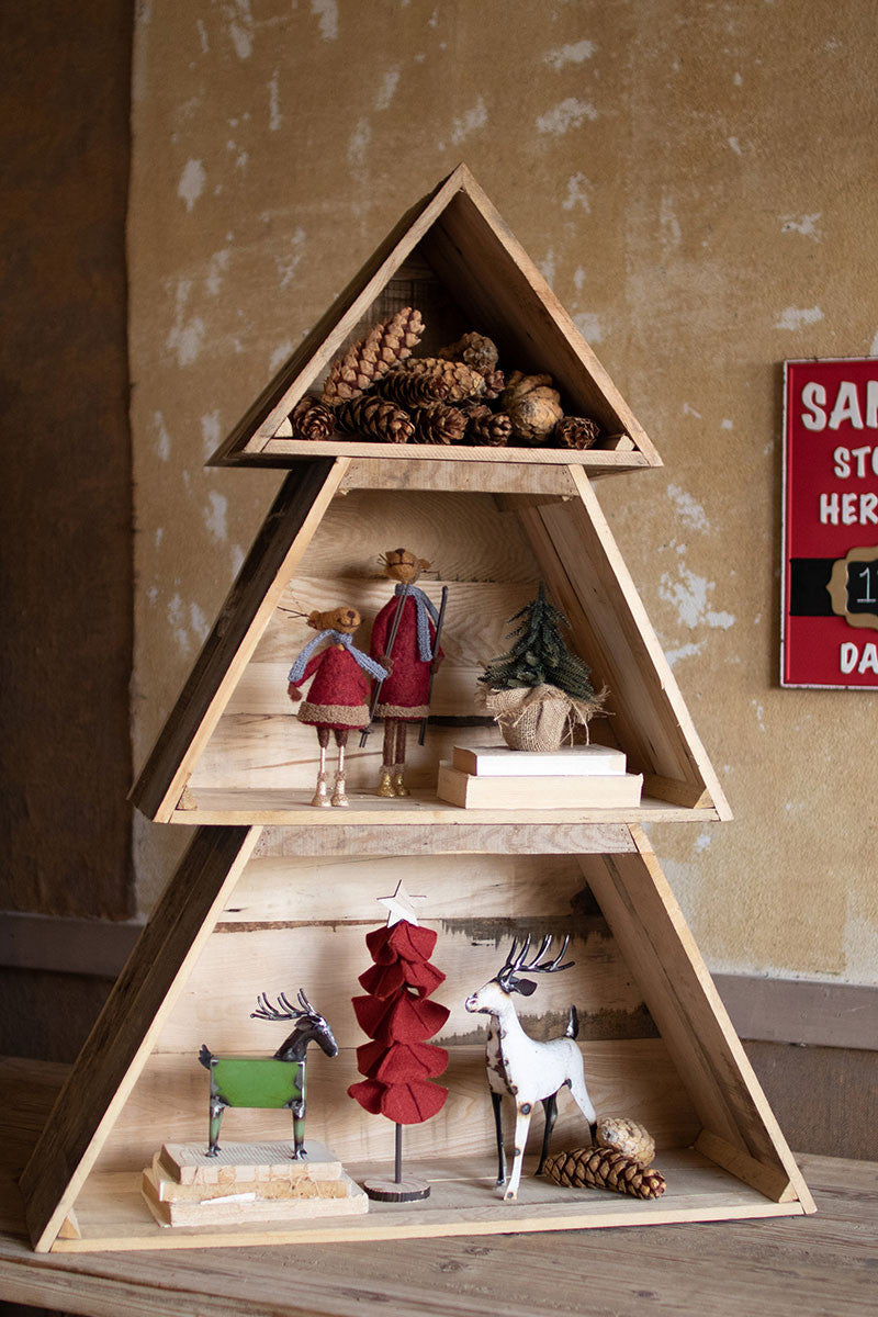 Recycled Wooden Stackable Christmas Tree Shelf