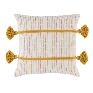 "20"" Gold Tassel Pillow"