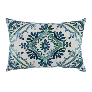 "20"" Floral Lumbar Pillow"