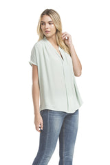 Sslv Shirred Blouse | Mint Green