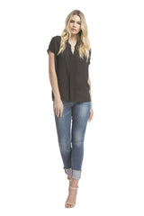 Sslv Shirred Blouse | Black
