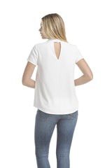 Sslv Wide Tab Signature Blouse | Ivory