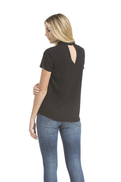 Sslv Wide Tab Signature Blouse | Black