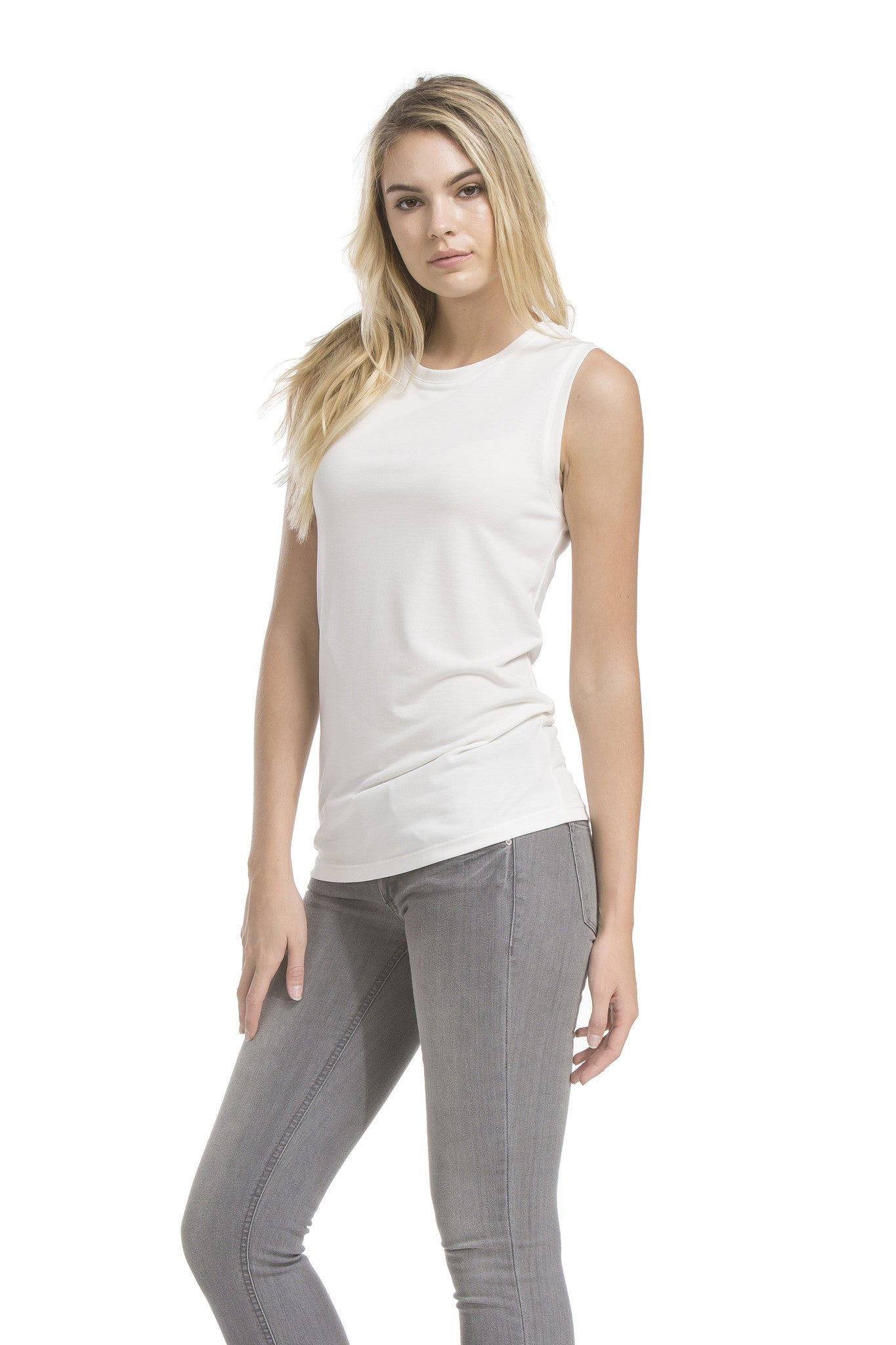 Simple Sleeveless Top | Ivory